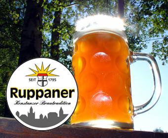 Bier der Ruppaner-Brauerei